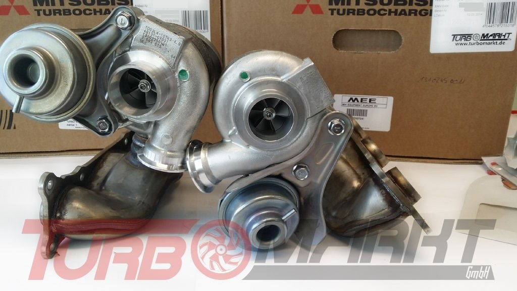 Turbolader Bmw 3er 335i 306 Ps Bi Turbo Anlage Mitsubishi